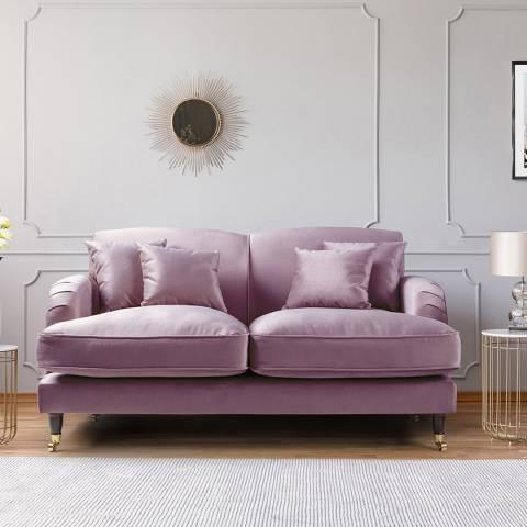 The Great Sofa Company The Piper 2 Seater Sofa, Velvet Lavender