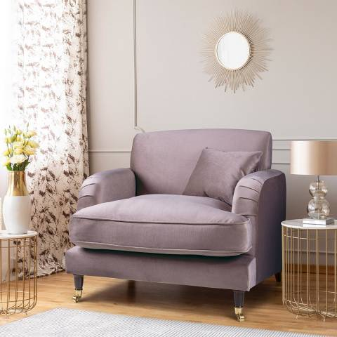 The Great Sofa Company The Piper Armchair, Velvet Lavender