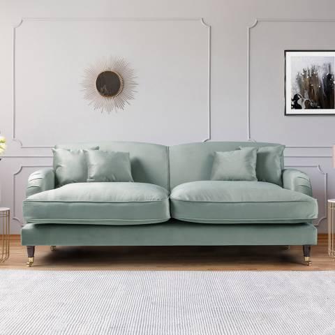 The Great Sofa Company The Piper 3 Seater Sofa, Velvet Sea Spray