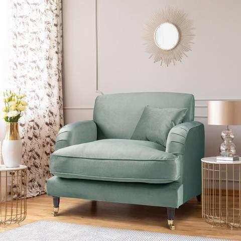 The Great Sofa Company The Piper Armchair, Velvet Sea Spray