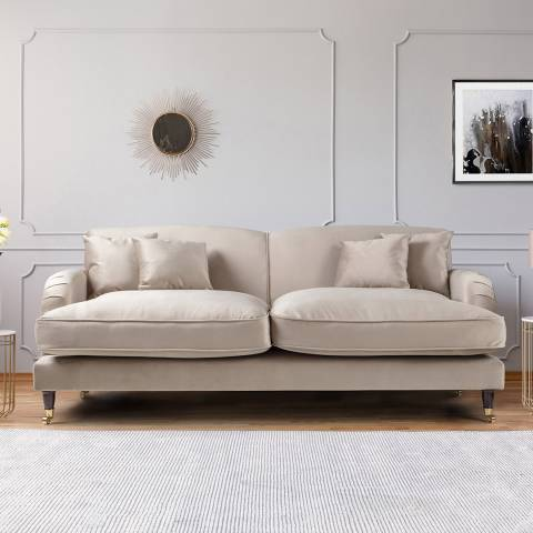 The Great Sofa Company The Piper 3 Seater Sofa, Velvet Putty