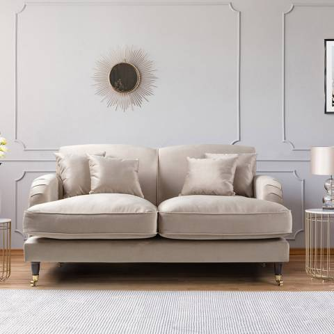 The Great Sofa Company The Piper 2 Seater Sofa, Velvet Putty