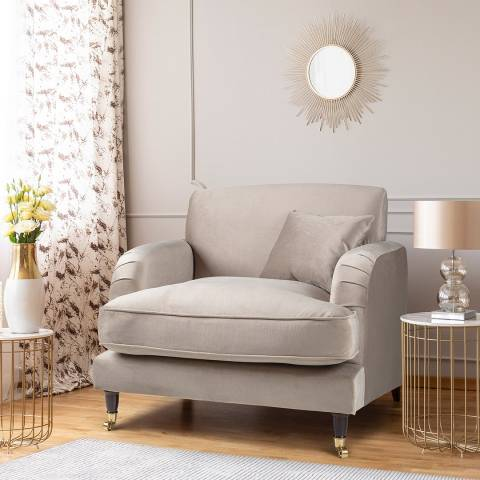 The Great Sofa Company The Piper Armchair, Velvet Putty