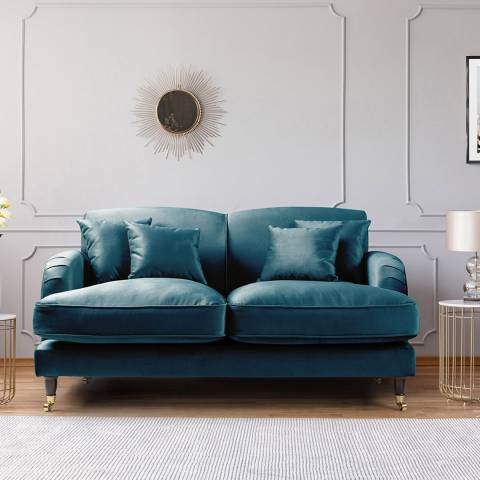 The Great Sofa Company The Piper 2 Seater Sofa, Velvet Peacock