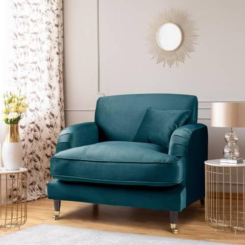 The Great Sofa Company The Piper Armchair, Velvet Peacock