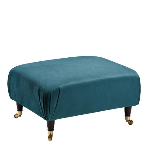 The Great Sofa Company The Piper Footstool, Velvet Peacock