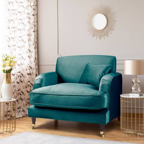 The Great Sofa Company The Piper Armchair, Velvet Emerald