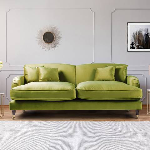 The Great Sofa Company The Piper 3 Seater Sofa, Velvet Grass