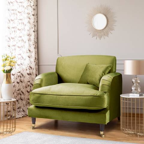 The Great Sofa Company The Piper Armchair, Velvet Grass