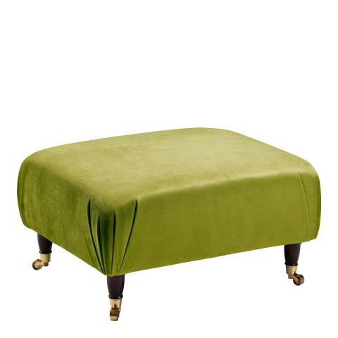 The Great Sofa Company The Piper Footstool, Velvet Grass