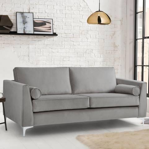 The Great Sofa Company The Icon 3 Seater Sofa, Velvet Grey