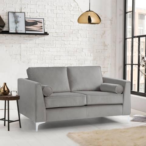 The Great Sofa Company The Icon 2 Seater Sofa, Velvet Grey