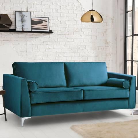 The Great Sofa Company The Icon 3 Seater Sofa, Velvet Peacock
