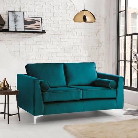 The Great Sofa Company The Icon 2 Seater Sofa, Velvet Peacock