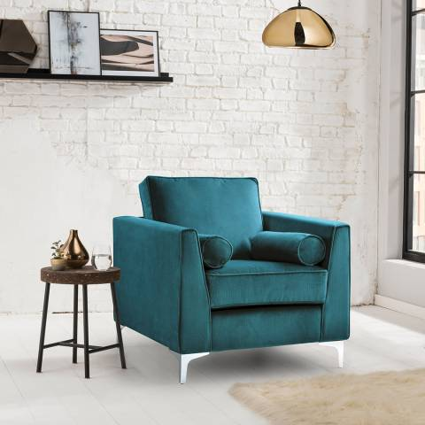 The Great Sofa Company The Icon Armchair, Velvet Peacock