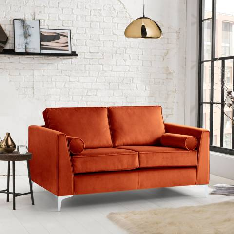 The Great Sofa Company The Icon 2 Seater Sofa, Velvet Apricot