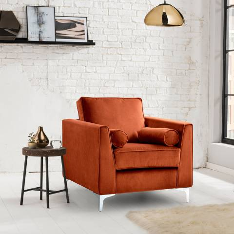 The Great Sofa Company The Icon Armchair, Velvet Apricot