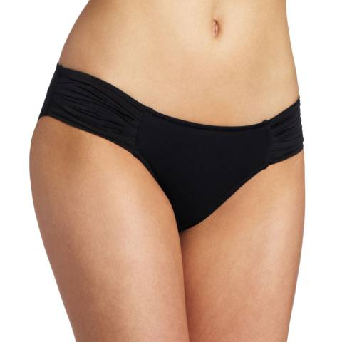 Seafolly Black Pleated Hipster