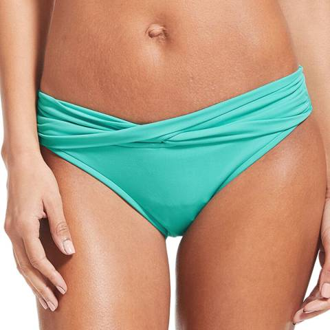 Seafolly Antigua Blue Twist Band Hipster