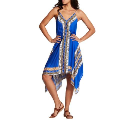 Seafolly Cobalt Blue El Dorado Scarf Dress