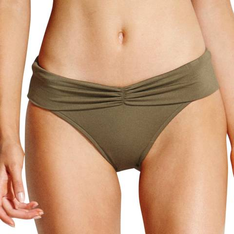 Seafolly Dark Olive Twist Band Hipster