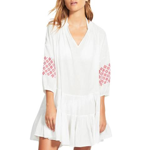 Seafolly Embroidery Sleeve Tiered Dress