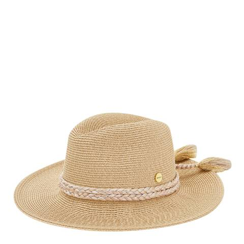 Seafolly Gold Shady Lady Collapsible Fedora Hat