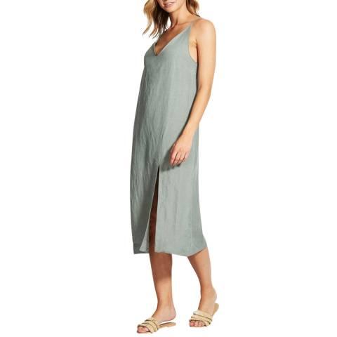 Seafolly Sage Linen Blend Slip Dress