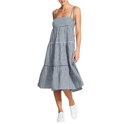 Seafolly Blue Ally Gingham Tiered Dress