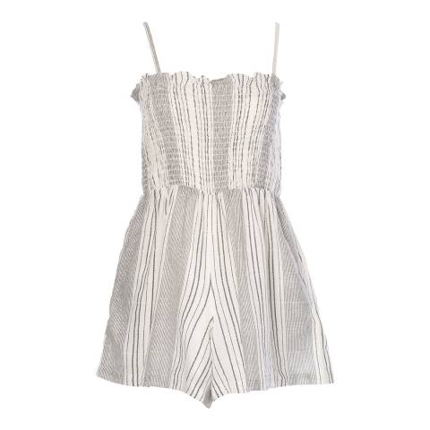 Seafolly White/Black Mona Stripe Playsuit