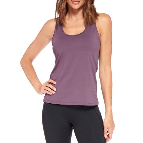 Live Electric Purple Speed Up Racer Back Tank Top