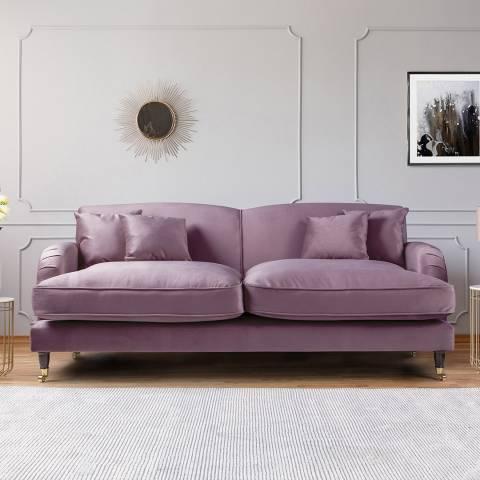 The Great Sofa Company The Piper 3 Seater Sofa, Velvet Lavender