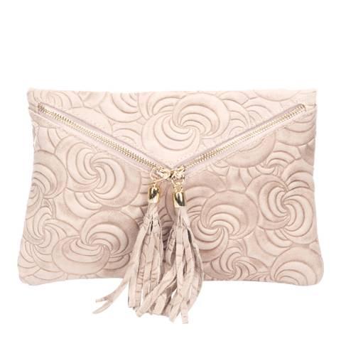 Lisa Minardi Rose Leather Clutch Bag