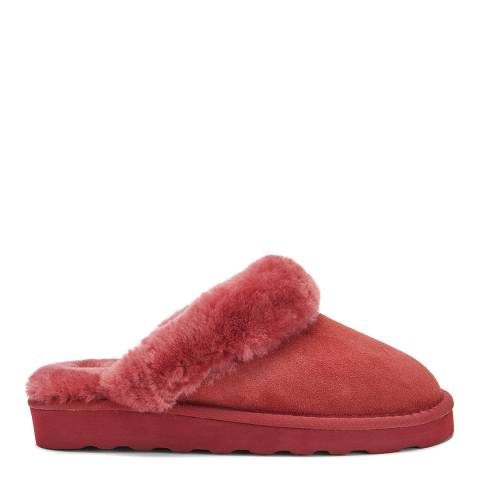 Australia Luxe Collective Red Closed Mule Luxe Sheepskin Slippers