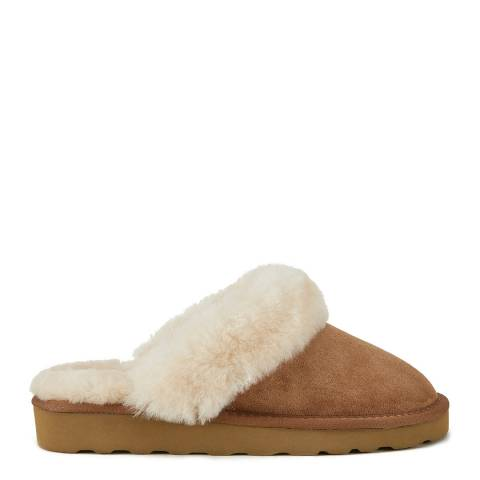 Australia Luxe Collective Chestnut Closed Mule Luxe Sheepskin Slippers