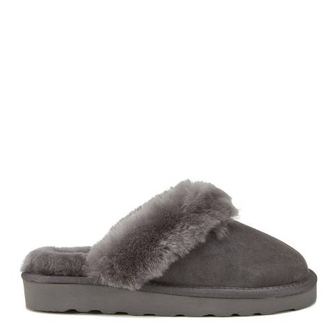 Australia Luxe Collective Grey Closed Mule Luxe Sheepskin Slippers