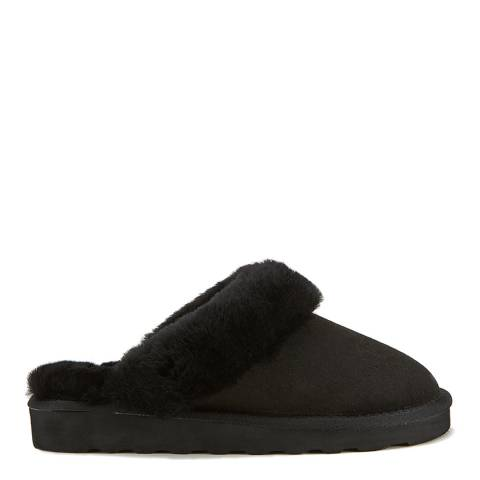Australia Luxe Collective Black Closed Mule Luxe Sheepskin Slippers