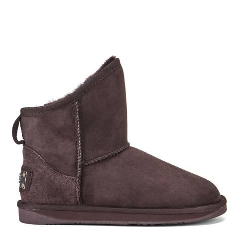Australia Luxe Collective Dark Brown Beva Cosy X Short Boots