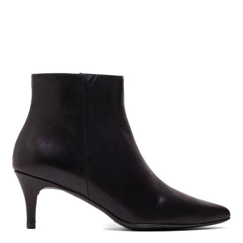 Elodie Black Leather Claudia Ankle Boot