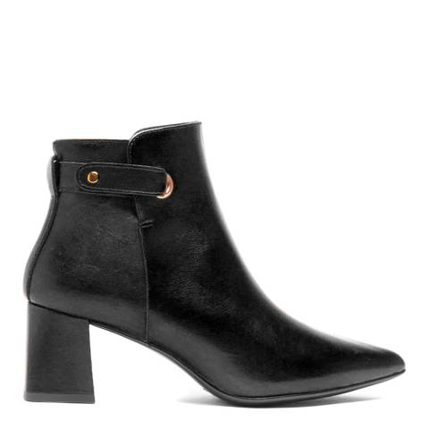 Elodie Black Leather Sherezade Ankle Boot