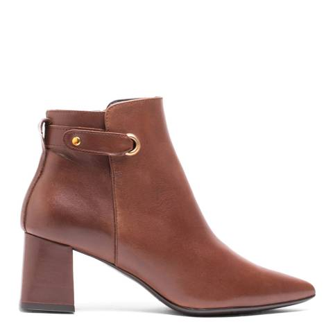 Elodie Brown Leather Sherezade Ankle Boot