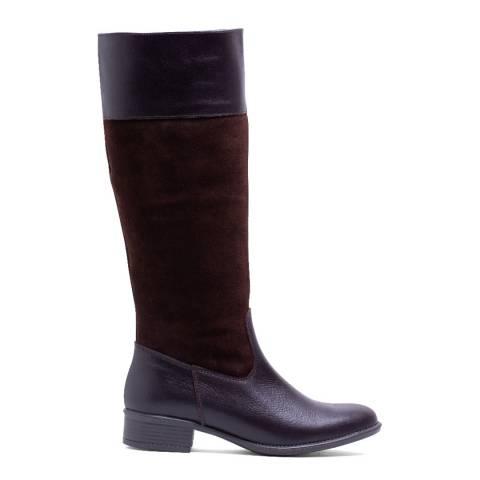 Elodie Brown Vestir Riding Knee High Boot