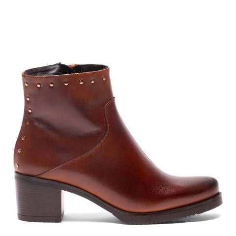 Elodie Brown Leather Elsa Ankle Boot