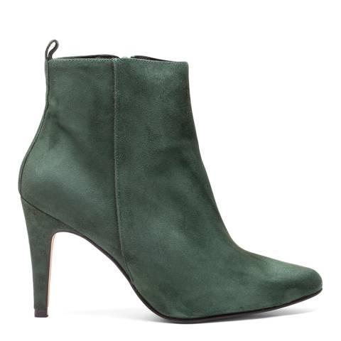 Elodie Green Suede Greta Stiletto Boot