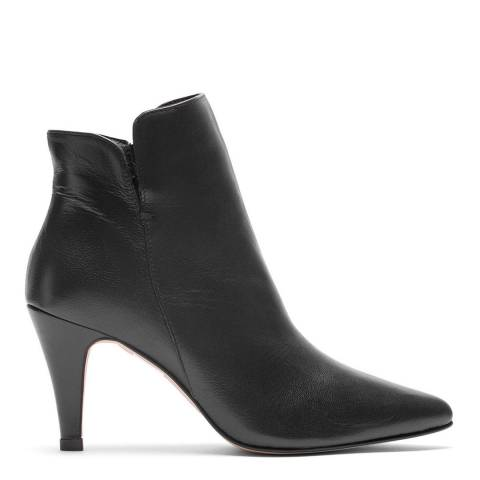 Elodie Black Leather Vera Ankle Boot