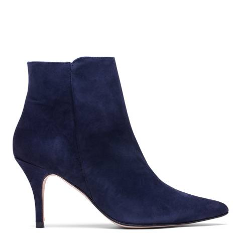Elodie Navy Suede Angelina High Heel Ankle Boot