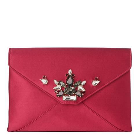 L K Bennett Raspberry Alena Small Envelope Clutch