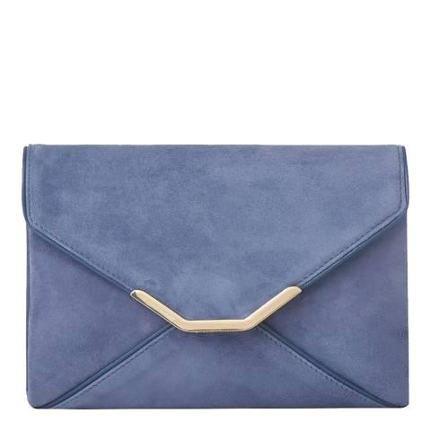 L K Bennett Powder Blue Alena Small Envelope Clutch