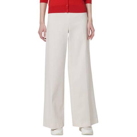 L K Bennett Navy Arna Textured Wide Leg Trouser