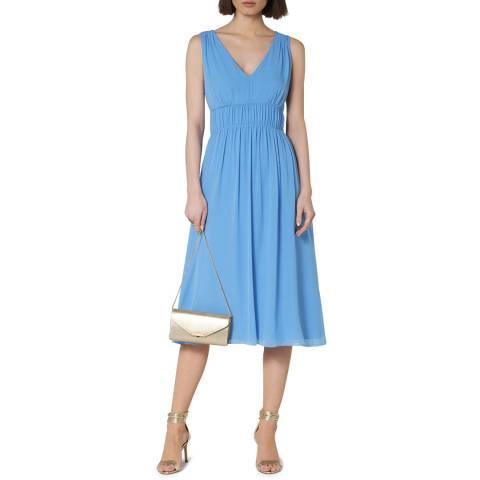 L K Bennett Blue Greca Silk Dress